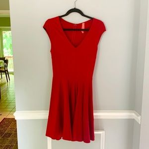 Eight Sixty Fit and Flare knee length red dress